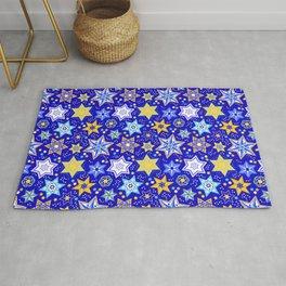 Embellished Stars of David Rug