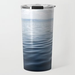 calm blue water Travel Mug