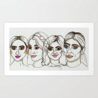 Art Print featuring Pretty little liars by BethanieWarrenArt
