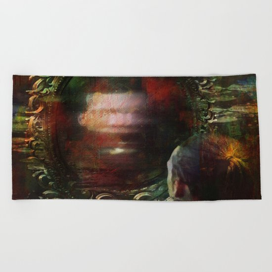 The haunted mirror Beach Towel