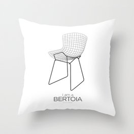 Chairs - A tribute to seats: I'm a Bertoia (poster) Throw Pillow