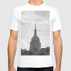 Empire Stat Building II MEDIUM White Mens Fitted Tee