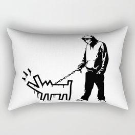 Banksy Choose Your Weapon Artwork Street Art, Design For Posters, Prints, Tshirts, Men, Women, Kids Rectangular Pillow