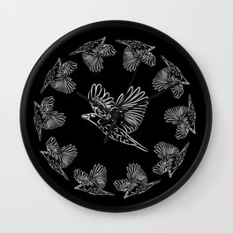 World crows. Crows in different framework, round, square. Wall Clock