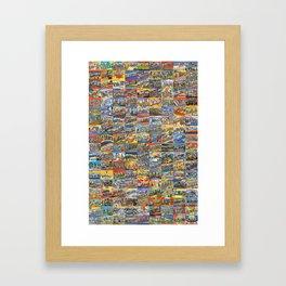 Greetings From Postcards Framed Art Print