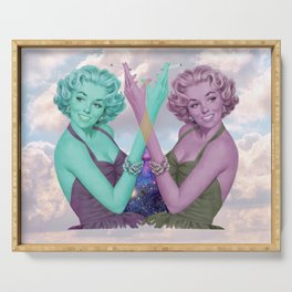 Cig Girls in the Clouds Serving Tray