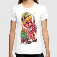 senna T-shirts featuring Ayrton Senna do Brasil by Renato Cunha