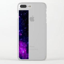 Purple Galaxy : Celestial Fireworks Clear iPhone Case