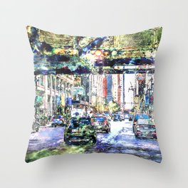 Scenes In The City Throw Pillow