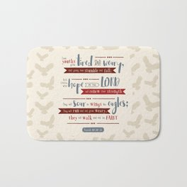 """Hope in the Lord"" Hand-Lettered Bible Verse Bath Mat"