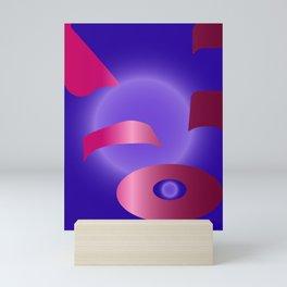 Purple Backpack Mini Art Print
