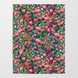 Rose Romance Pattern Poster