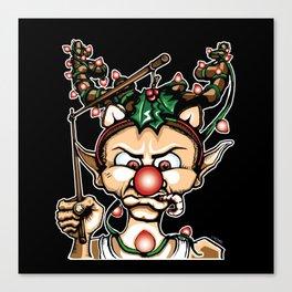 Grumpy Elf (Color) Canvas Print