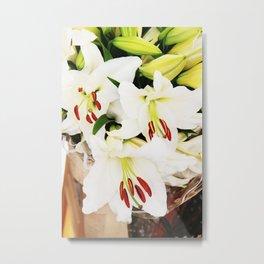 White lilium Metal Print