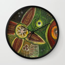 Spinning Intrigue Wall Clock