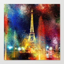 One Night At The Eiffel Tower - Paris Canvas Print