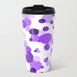 Purple Polka Metal Travel Mug