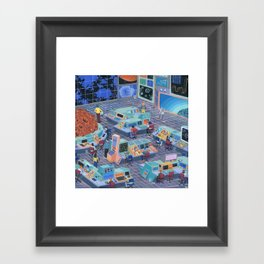 Command Center Framed Art Print