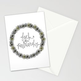 fuck the patriarchy Stationery Cards