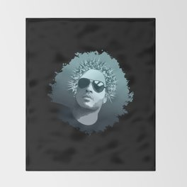 Tribute to Lenny Kravitz Throw Blanket