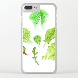 Fresh mix salad Clear iPhone Case