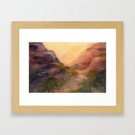 Saddle of Papago Park Butte Framed Art Print