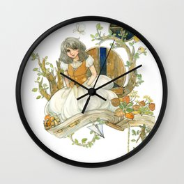 Colourful Seasons in the Forest Beautiful Childhood Fairytale Wall Clock