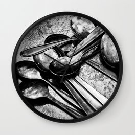 Spooning Wall Clock