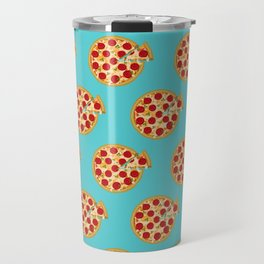 Fun salami pizza pie pattern Travel Mug