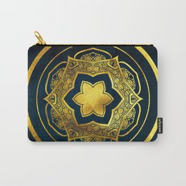 BLUE AND GOLD MANDALA Carry-All Pouch