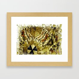 All In A Days Work Abstract #10 Framed Art Print