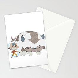 atla team bender - aang appa momo Stationery Cards