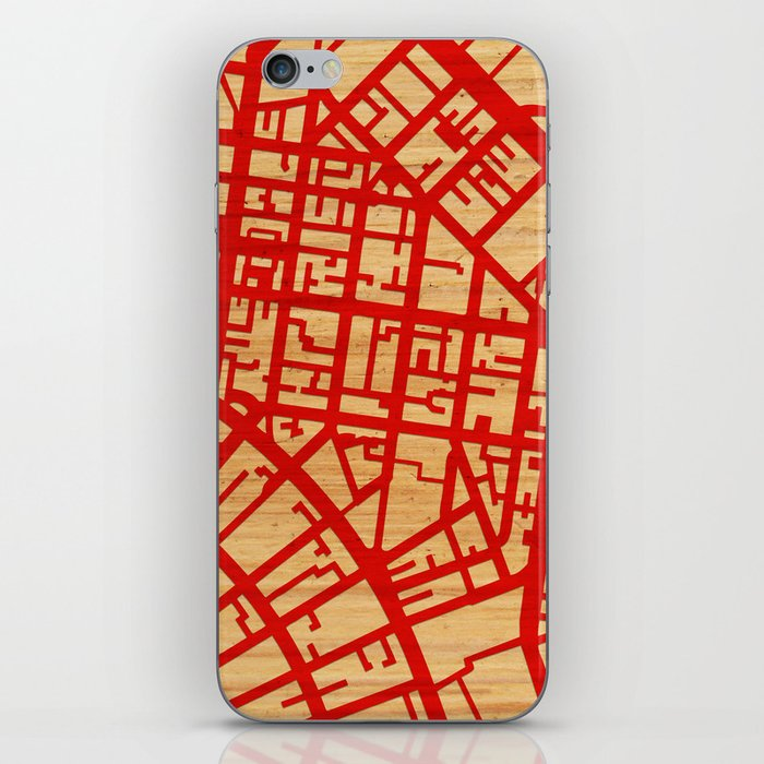 Map of the Town iPhone Skin