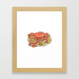 Cajun Seafood Watercolor Framed Art Print