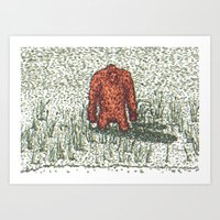Big Foot Art Print