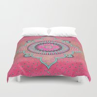india Duvet Covers featuring India Pink by LebensART