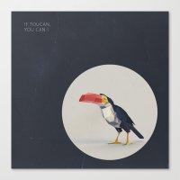 toucan Canvas Prints featuring TOUCAN by Dinosaur Design