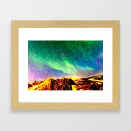 Land Of Ice and Fire Framed Art Print