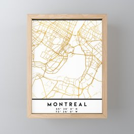 MONTREAL CANADA CITY STREET MAP ART Framed Mini Art Print