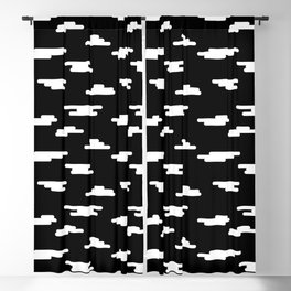 Fluffy White Clouds by Shiri Mor Blackout Curtain