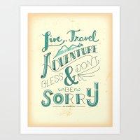 Live, Travel, Adventure Art Print