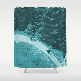 Two bikers Shower Curtain