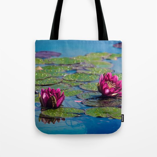 Two water lilies Tote Bag