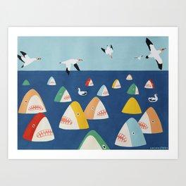 Shark Park Art Print