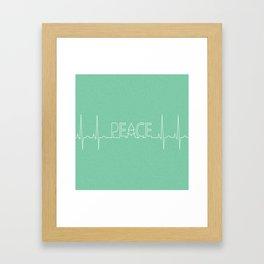 Peace Pulse Minimalist Christmas Framed Art Print
