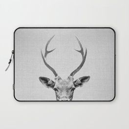 Deer - Black & White Laptop Sleeve