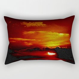 Sundown You Better Take Care (Sunset Scituate Reservoir) Landscape by Jeanpaul Ferro Rectangular Pillow