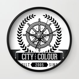 City and Colour Wall Clock
