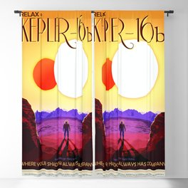 Kepler-16b - NASA Space Travel Poster (Alt) Blackout Curtain