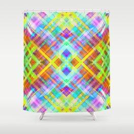 Colorful digital art splashing G71 Shower Curtain